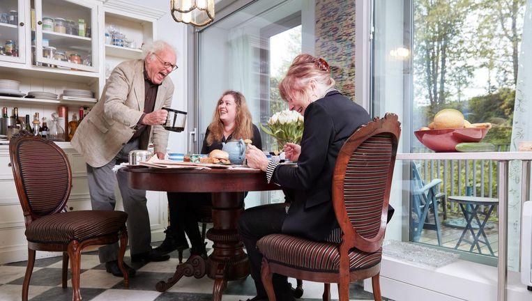 Henk Spaan met zijn dochter Sophie en zijn vrouw Harriët. Beeld Erik Smits