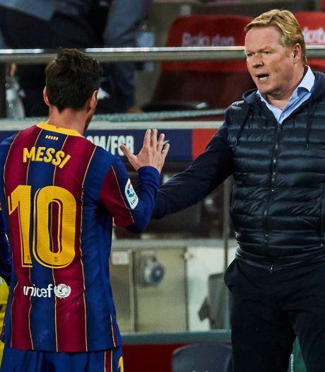 Koeman is vragen over Messi zat: 'Ik snap dat Leo pissig was'