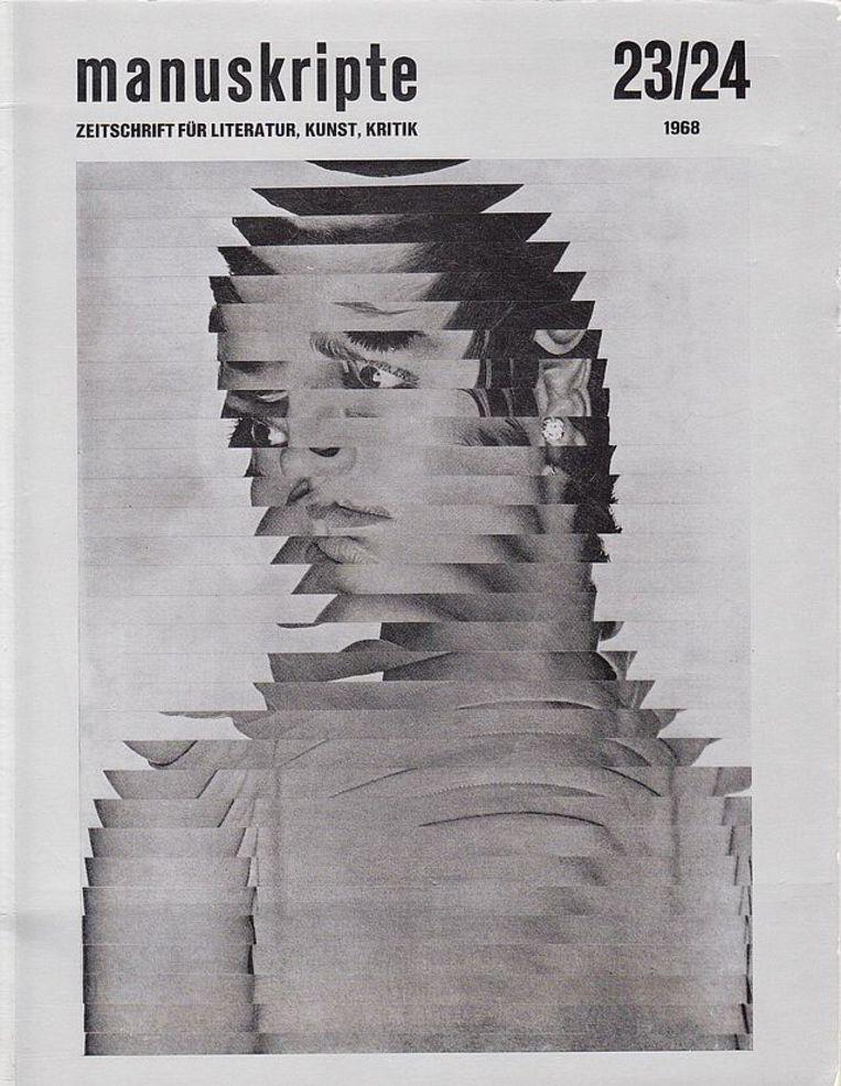 Omslag Jiri Kolár. Tijdschrift Manuskripte, 1968. Beeld