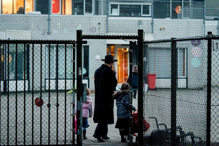 Het ministerie van onderwijs geeft de joodse school Cheider een 'laatste waarschuwing'. Beeld ANP