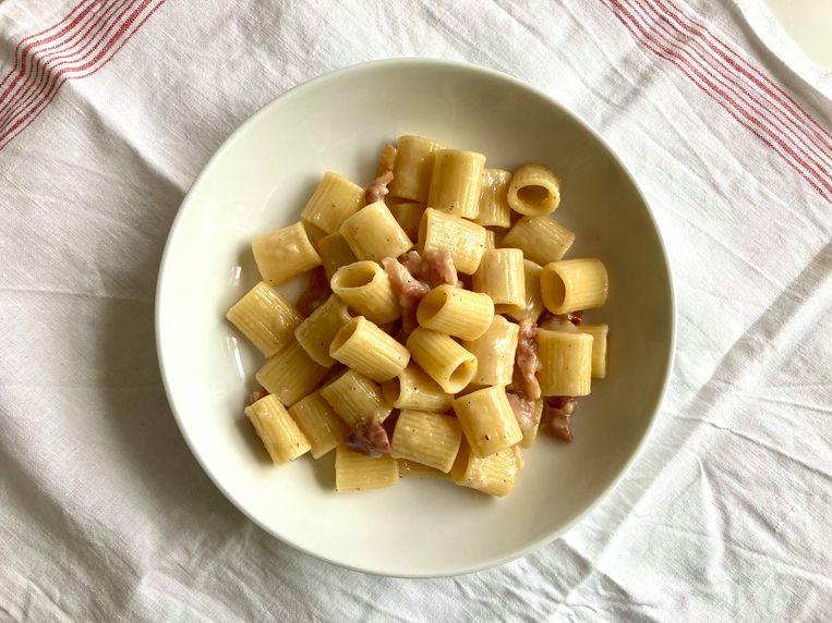 Pasta alla gricia Beeld Sake Slootweg