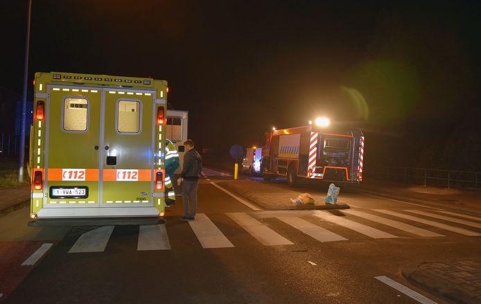 De voetgangster werd met zware verwondingen overgebracht naar het ziekenhuis.