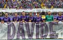 Fiorentina-spelers herdenken hun overleden ploeggenoot Davide Astori in 2018.