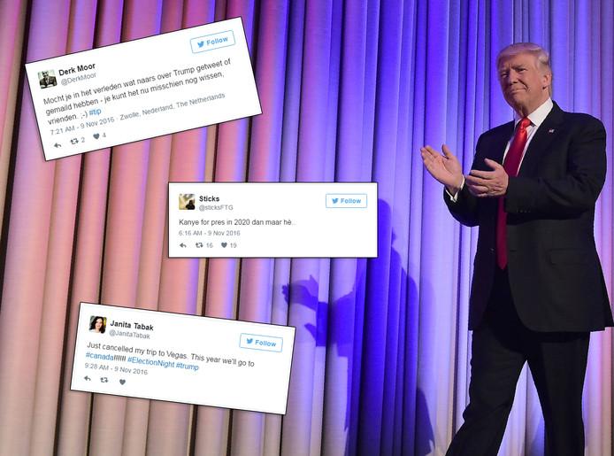 Reacties op winst Donald Trump