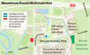Locaties nieuwbouw Ronald McDonald Huis
