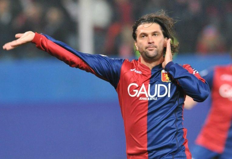 Ook Omar Milanetto werd gearresteerd. Hij speelde in 2006-2011 voor Genoa. Beeld ANP