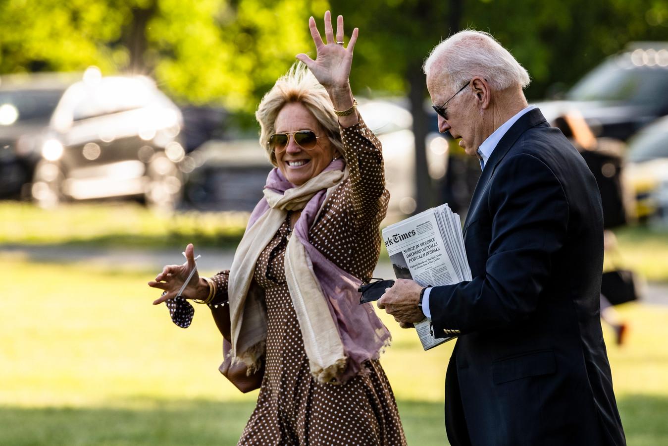 Jill Biden et son président de mari, sur la pelouse de la Maison Blanche (archives).