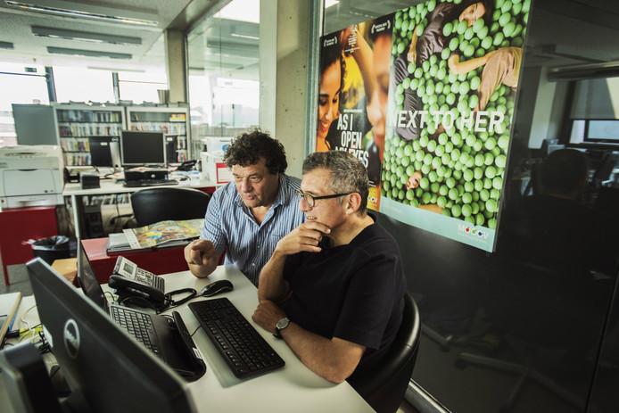 Tilburger Bert Goessen (links) werk bij het Turnhoutse filmfestival Mooov nauw samen met Marc Boonen.