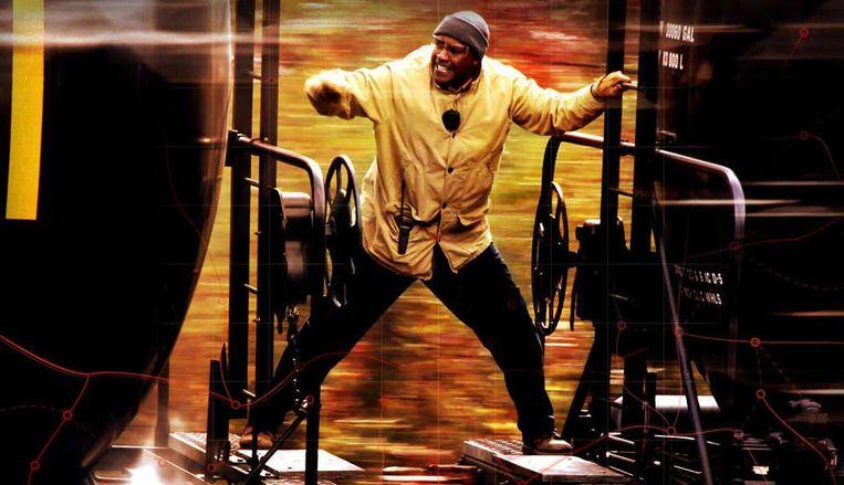 Denzel Washington in 'Unstoppable'. Beeld rv