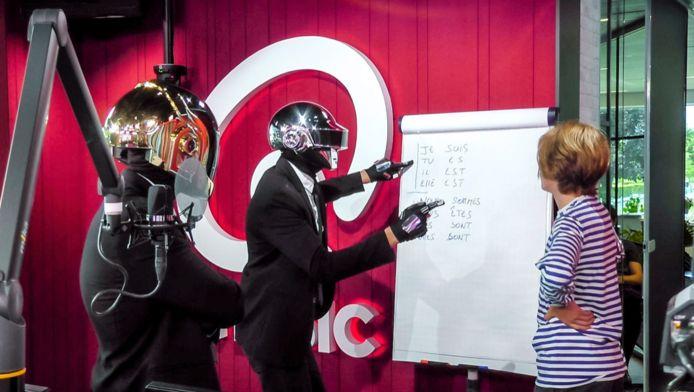 Daft Punk komt Franse les geven...