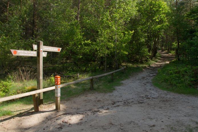 Wandeling over de Lemelerberg. Deze kan hier ingekort worden, maar de beschreven route is de lange. Foto Erna Lammers