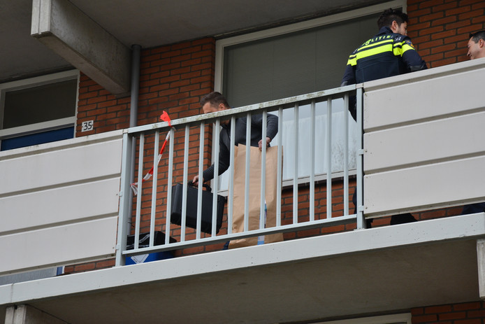De flat aan de Sandenburgstraat in Breda, waar de schietpartij plaatsvond.