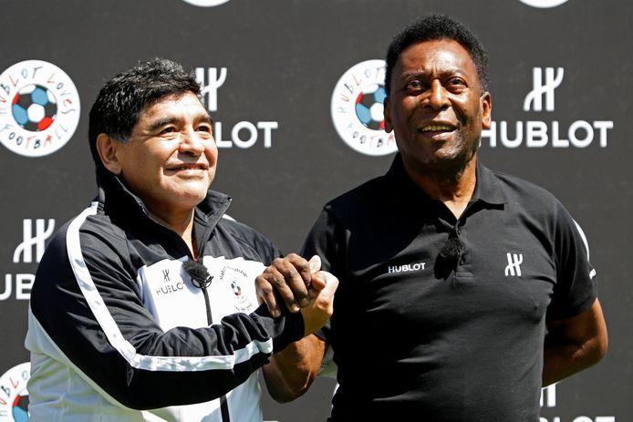 Met Diego Maradona bij een evenement tijdens het EK 2016 in Frankrijk.
