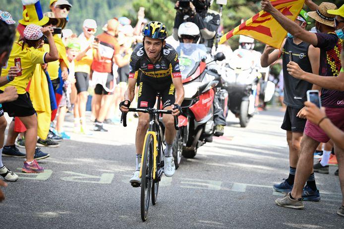 Sepp Kuss, de Amerikaan van Jumbo-Visma, won de etappe van Ceret naar Andorra la Vella.