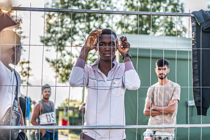 Net gearriveerde migranten en vluchtelingen in Litouwen.