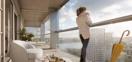 """Zo zal eerste houten wolkenkrabber van België eruitzien: """"Stempel drukken op skyline van Antwerpen"""""""