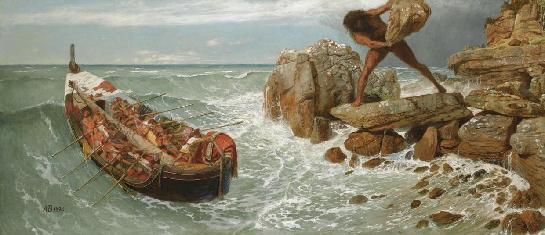 Het schilderij Odysseus en Polyphemus van de Zwitser Arnold Böcklin. Beeld Getty Images