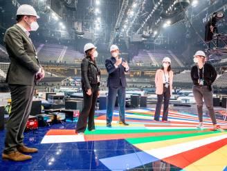 Koning verrast met bezoek opbouw van Songfestival: 'We mogen trots zijn op wat hier gebeurt'