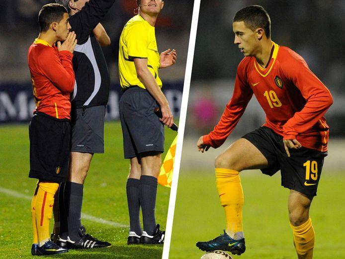 Eden Hazard mocht invallen, en pakte meteen uit met een prachtige dribbel.