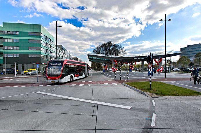De derde HOV-lijn start vanaf busstation Woensel, hier op een archieffoto.