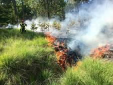 Sein brand meester bij bosbrand in Alphen