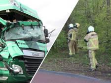 Brandweer Twente rukt 20 keer uit voor stormschade; boom valt op vrachtwagen in Haarle