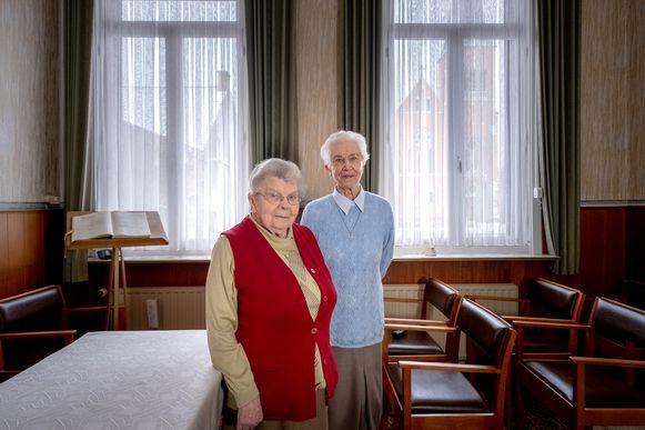 Zuster Celine en zuster Oliva verlaten eind deze maand het klooster in Heist-Goor
