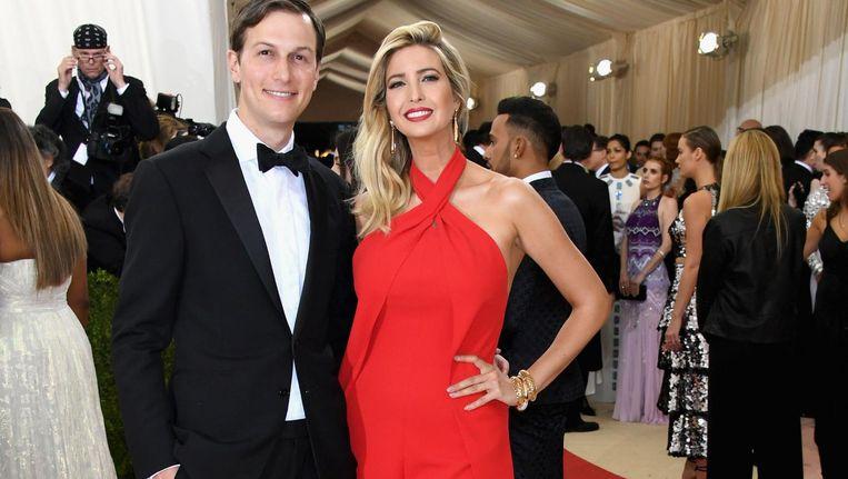 Ivanka Trump met haar echtgenoot, Jared Kushner Beeld Getty Images