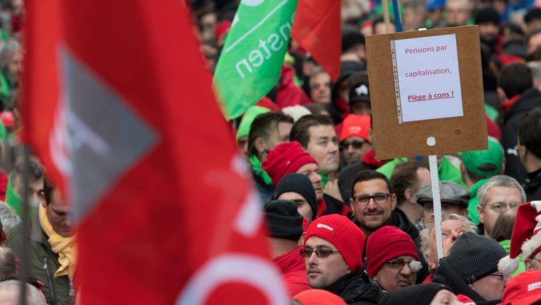 Archiefbeeld: vakbondsbetoging 2016