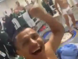 Inter-spelers vieren de nakende titel: feest barst los in de kleedkamer