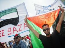 Protest tegen geweld Gazastrook in Rotterdam