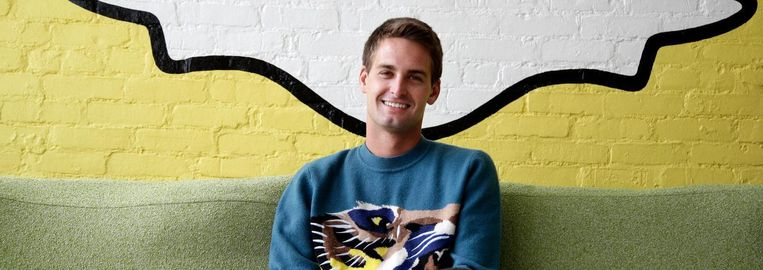 Evan Spiegel, directeur en uithangbord van zijn bedrijf Snap. Beeld ap