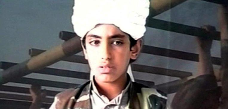 Hamza Bin Laden. Van wanneer dit beeld dateert, weet niemand Beeld ap