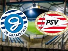 Lars Nieuwpoort opent wedstrijd De Graafschap - Jong PSV: 1-0