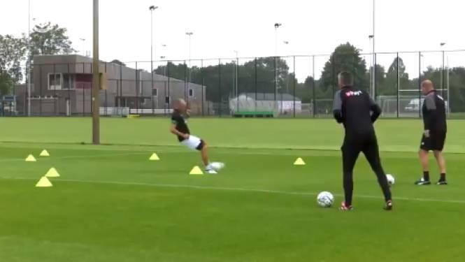 """Robben legt er stevig de pees op tijdens training: """"Work in progress"""""""