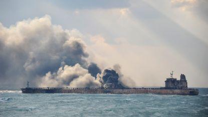 Explosie op olietanker Sanchi die al vier dagen brandt, vertraagt bluswerken