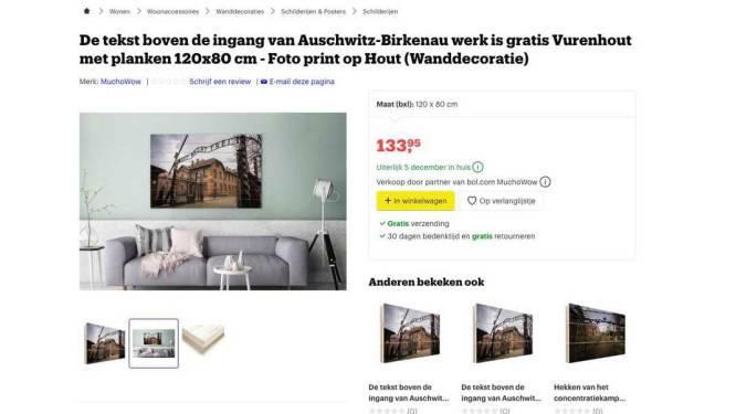 Na Auschwitz-kerstspullen op Amazon: Bol.com stopt verkoop muurdecoratie van Auschwitz
