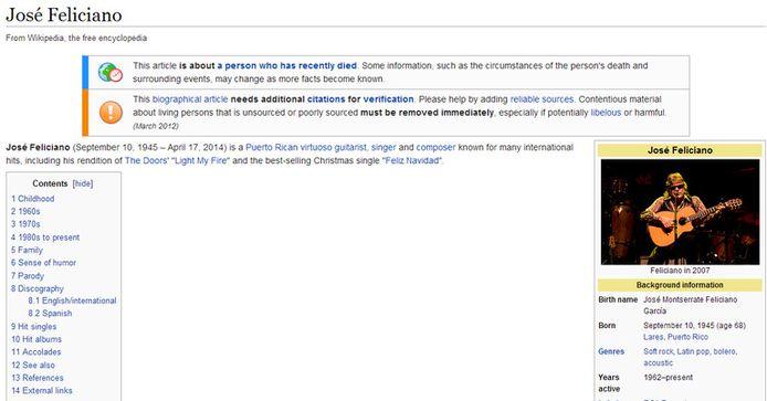 Screenshot Wikipedia