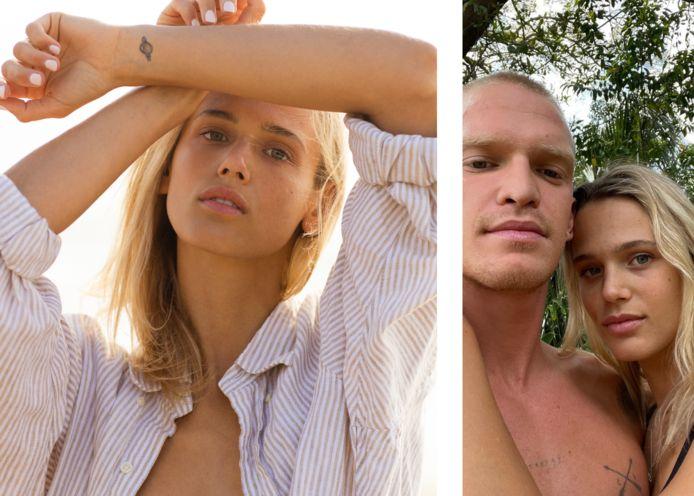 Marloes Stevens, rechts met haar vriend Cody Simpson.