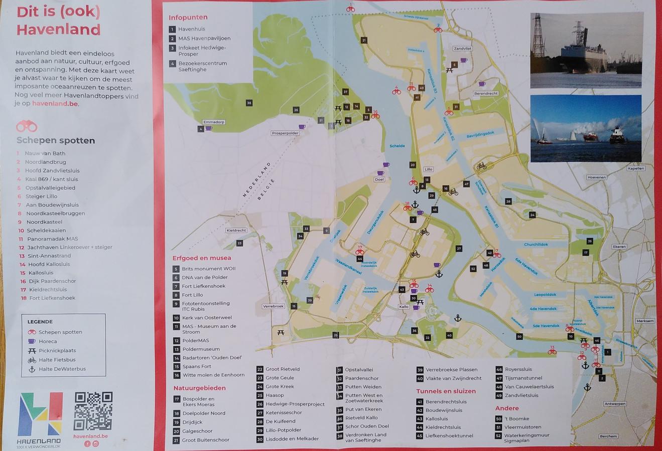De kaart van de Havenlandrun, Doel is een grote blinde vlek op de kaart.