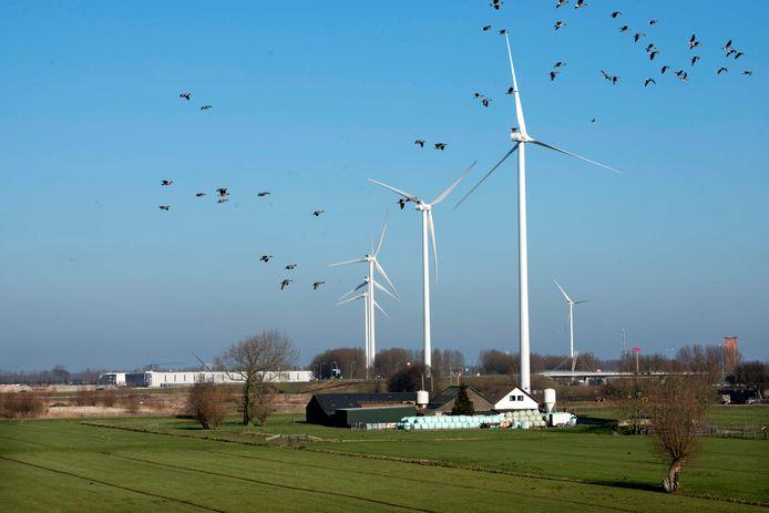 Windmolens in Houten en Nieuwegein.