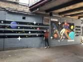 De muze van een Spanjaard op een muur in Den Bosch
