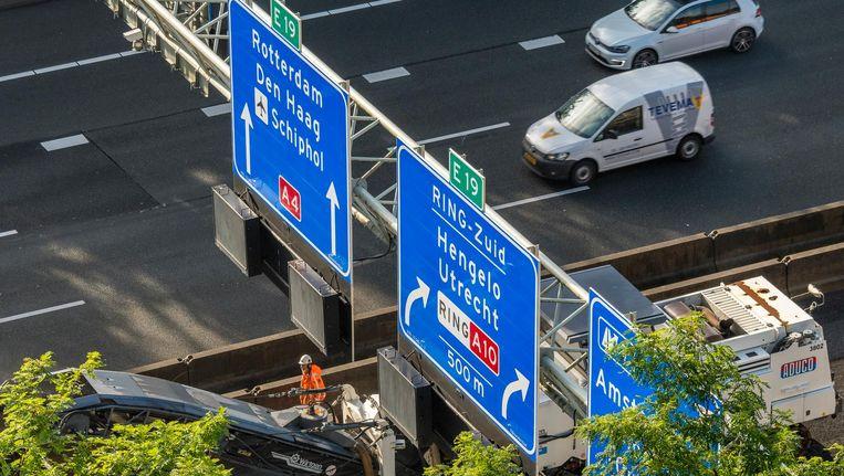 De A10-West wordt de komende weken flink onder handen genomen. Beeld anp
