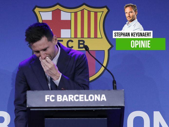 Onze chef voetbal keek naar het droevige afscheid van Lionel Messi.