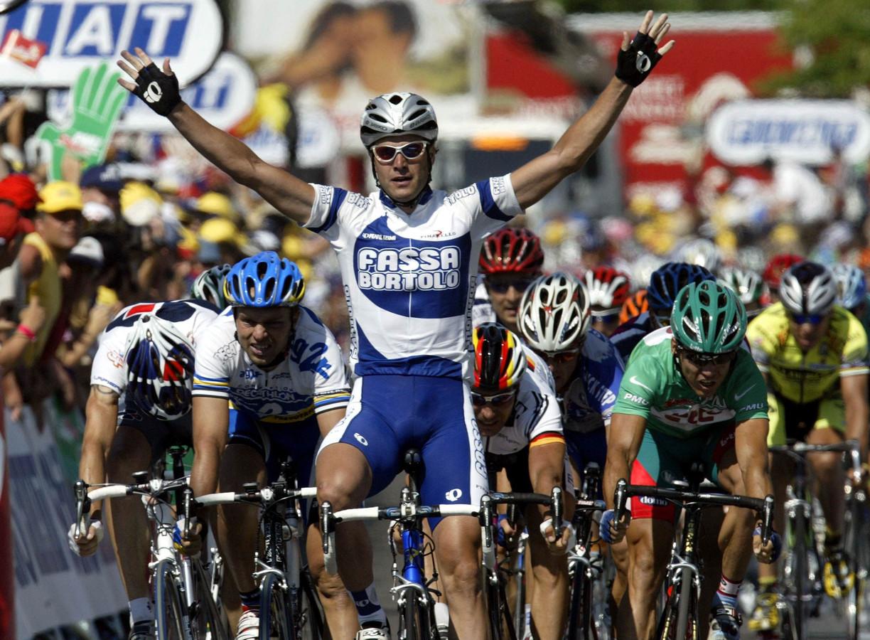 In 2003 was Alessandro Petacchi de sprinttroef van het die Tour succesvolle Fassa Bortolo.