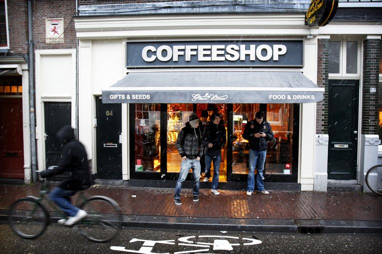 Exterieur van GreenHouse Coffeeshop in Amsterdam. Beeld ANP
