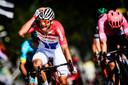 Mathieu van der Poel kan het niet geloven: hij wint de Amstel Gold Race.