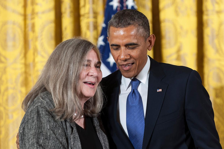 Samen met Barack Obama, die haar al interviewde. 'De roep om gelijke rechten van zwarte mensen stuit op verzet. Dat is het trieste en beschamende mysterie van de Amerikaanse natie.' Beeld Getty Images