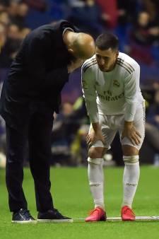 """Zidane réagit à la nouvelle blessure d'Hazard: """"Il est énervé car il se sentait bien"""""""