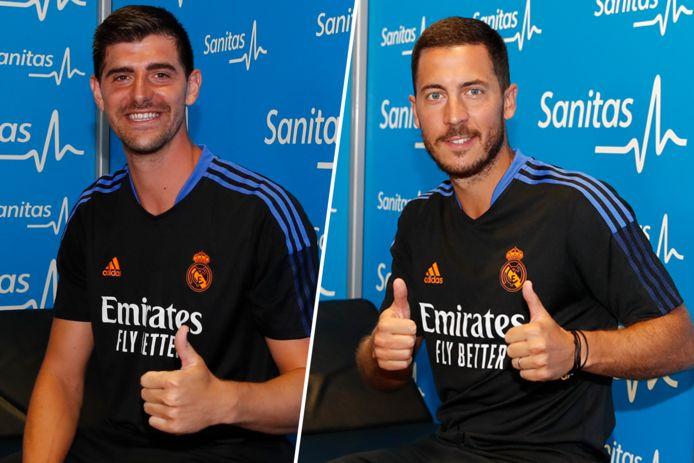 Thibaut Courtois en Eden Hazard zijn weer op post bij Real Madrid